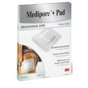 3M Medipore + Pad 10 cm x 10 cm, 5 Stk.